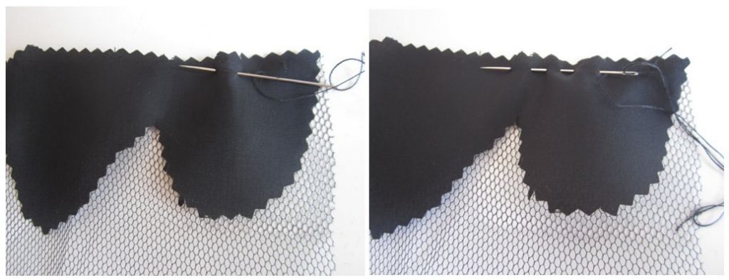 mis nancys, mis peques y yo, tutorial facil DIY tul y tela petalos basta