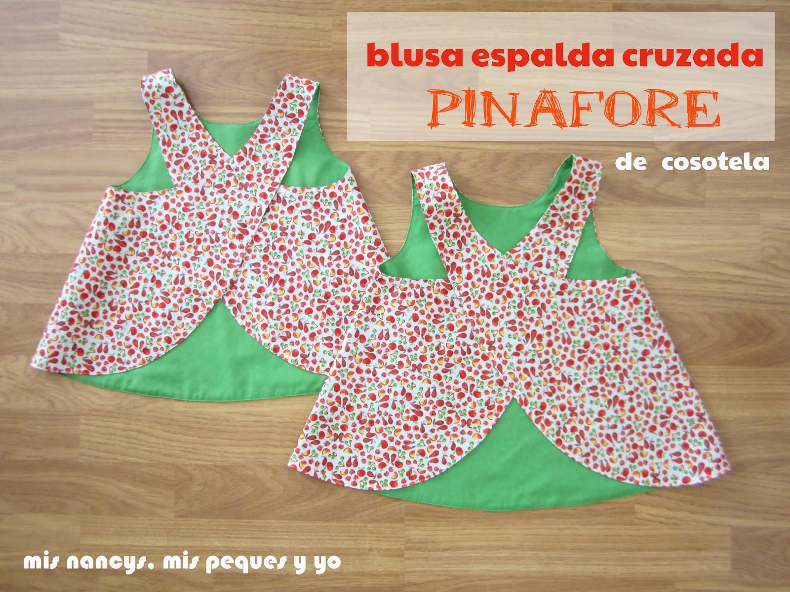 """Blusa con la espalda cruzada Pinafore de """"Cosotela"""""""