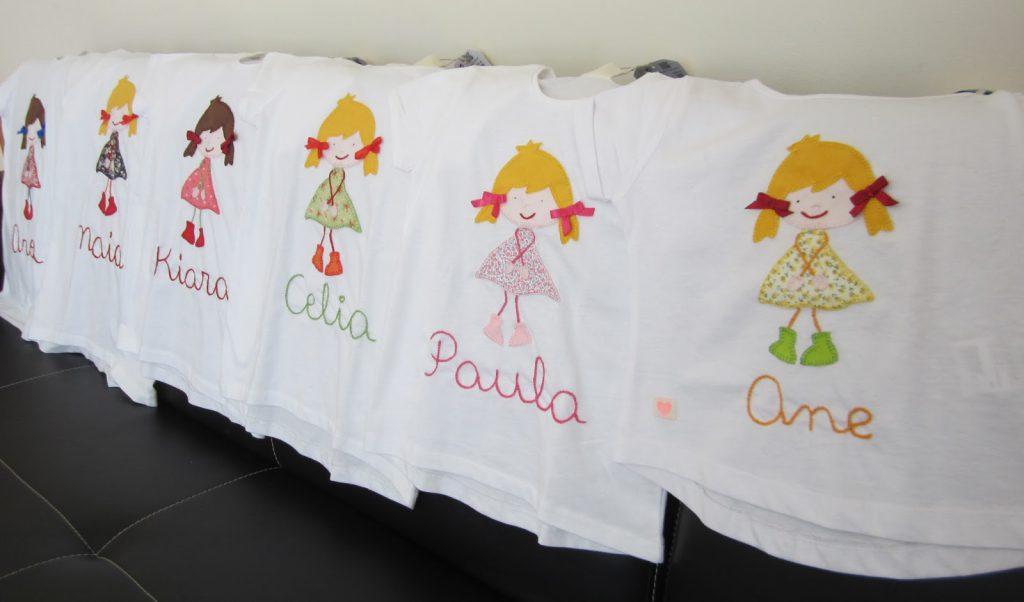 mis nancys, mis peques y yo, aplique camisetas muñequita linda