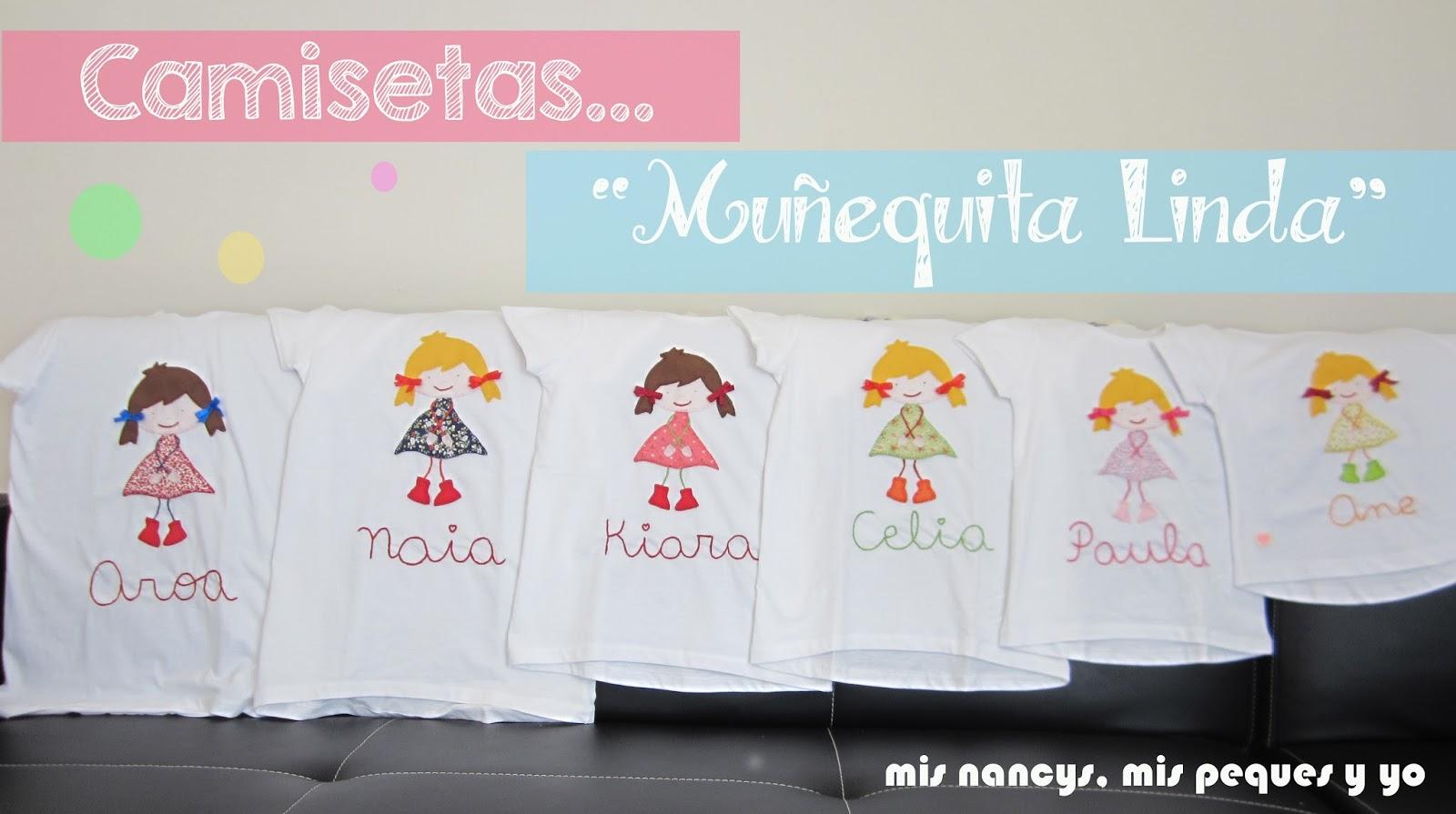 "Camisetas ""Mu?equita Linda"" (Regalos para 7, parte 2)"