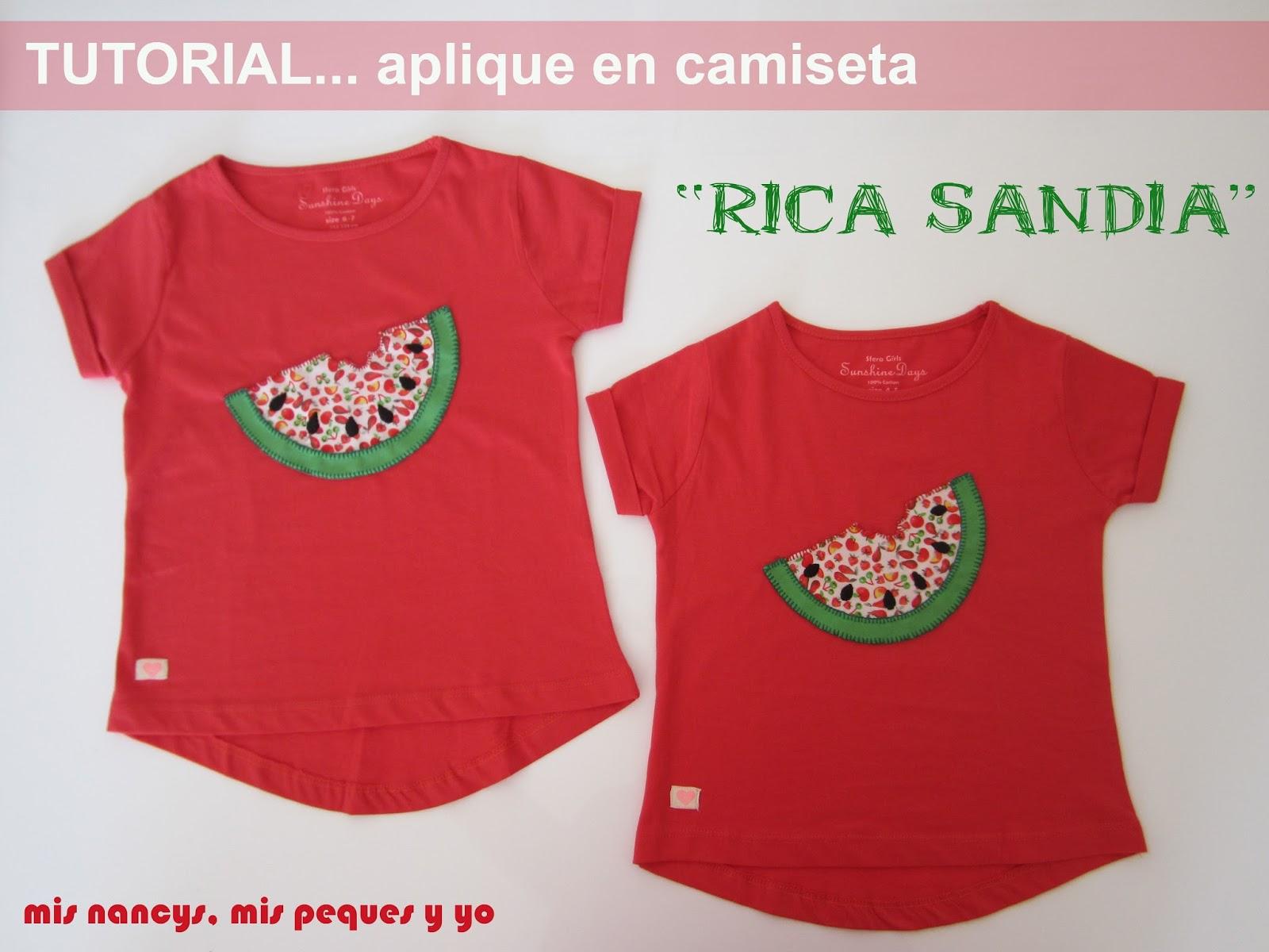 "Tutorial Aplique en camiseta…""Rica Sand?a"""