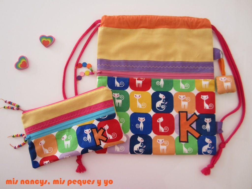 mis nancys, mis peques y yo, tutorial estuche, conjunto mochila y estuche