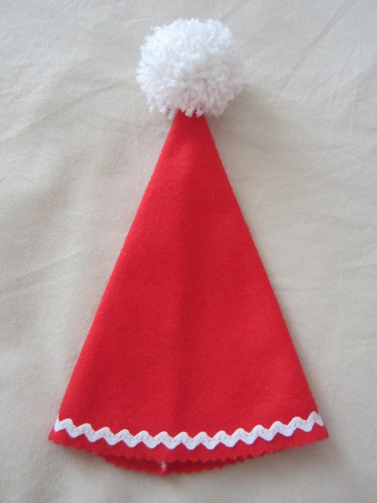 mis nancys, mis peques y yo, disfraz duende de navidad fieltro sombrero