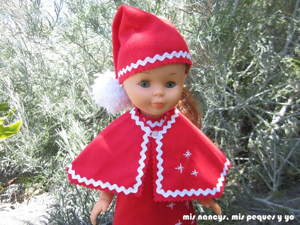 mis nancys, mis peques y yo, disfraz duende de navidad con capa