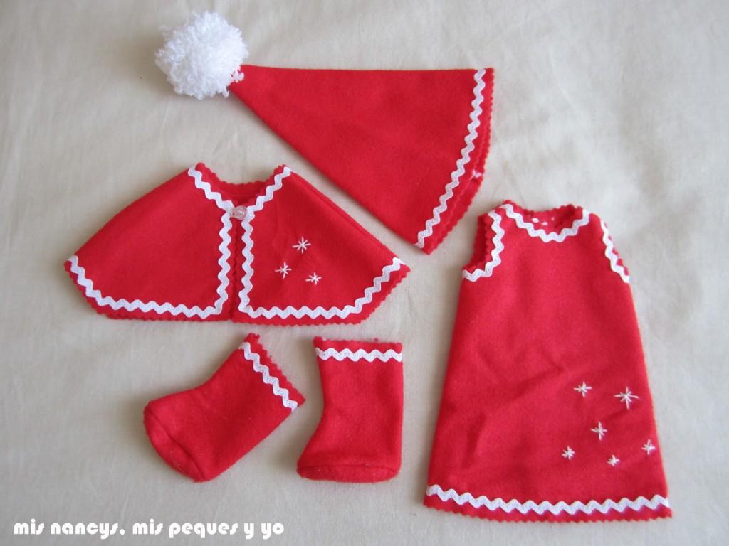 mis nancys, mis peques y yo, disfraz navidad nancy partes