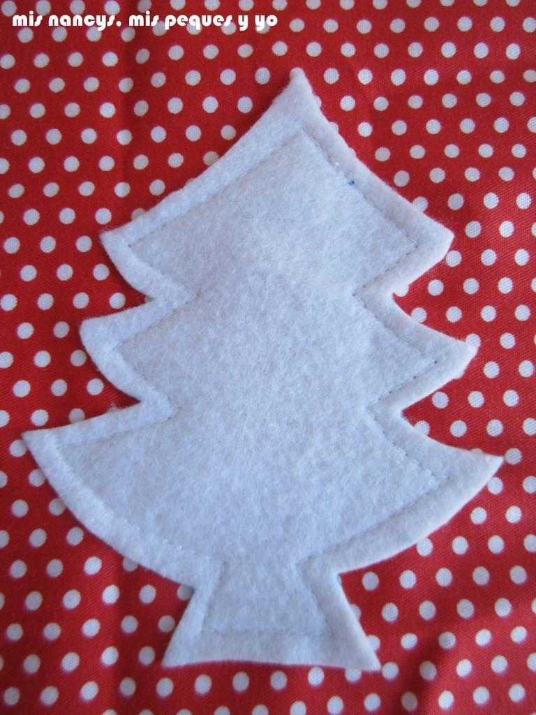 mis nancys, mis peques y yo, tutorial bolsitas de Navidad reversibles, coser adorno fieltro