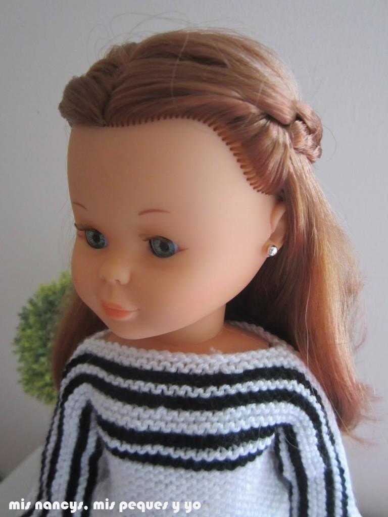 mis nancys, mis peques y yo, tutorial jersey de lana para Nancy (patrón gratis) Detalle cuello barca