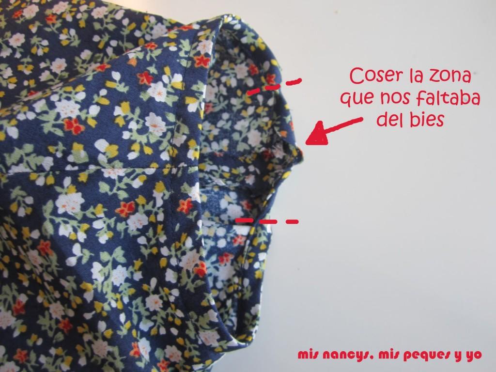 mis nancys, mis peques y yo, tutorial blusa sin mangas niña (patrón gratis), rematar bies sisas