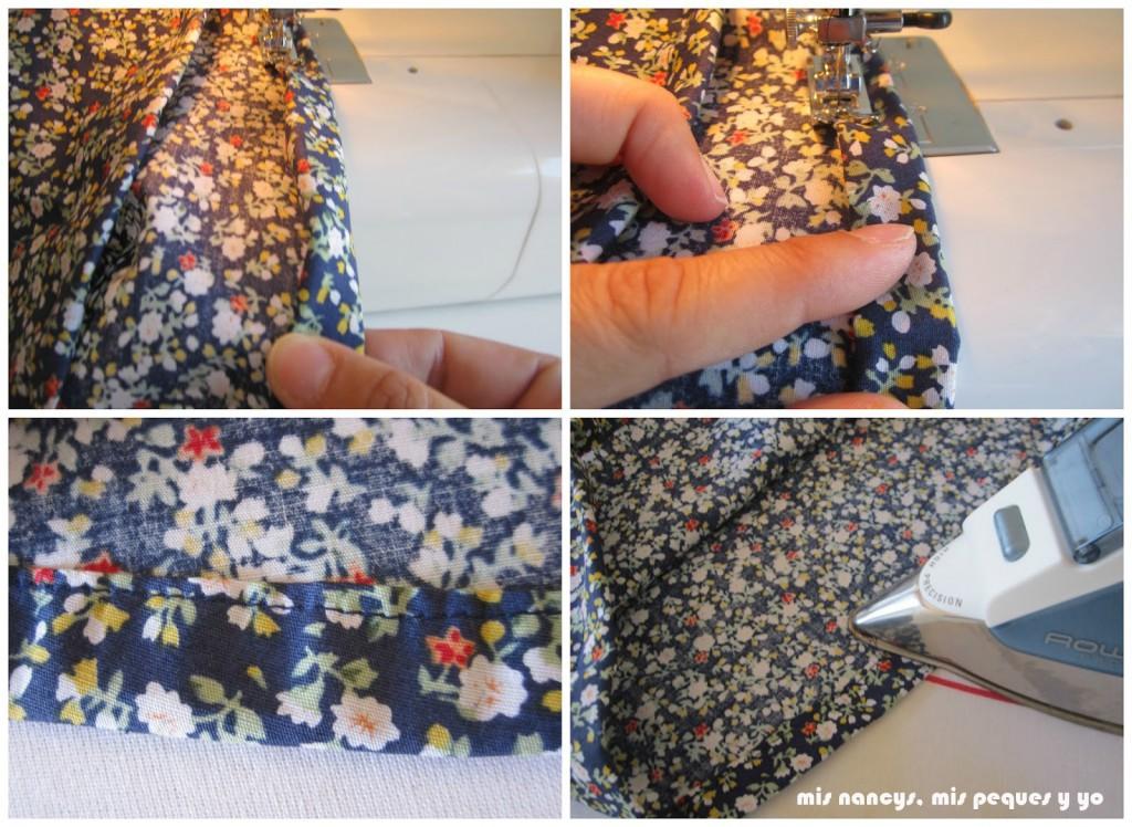 mis nancys, mis peques y yo, tutorial blusa sin mangas niña (patrón gratis), coser dobladillo del bajo