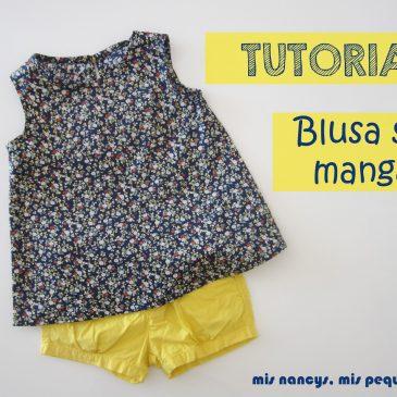Tutorial Blusa sin mangas para niña (con patrón talla 4 y 6 incluido)
