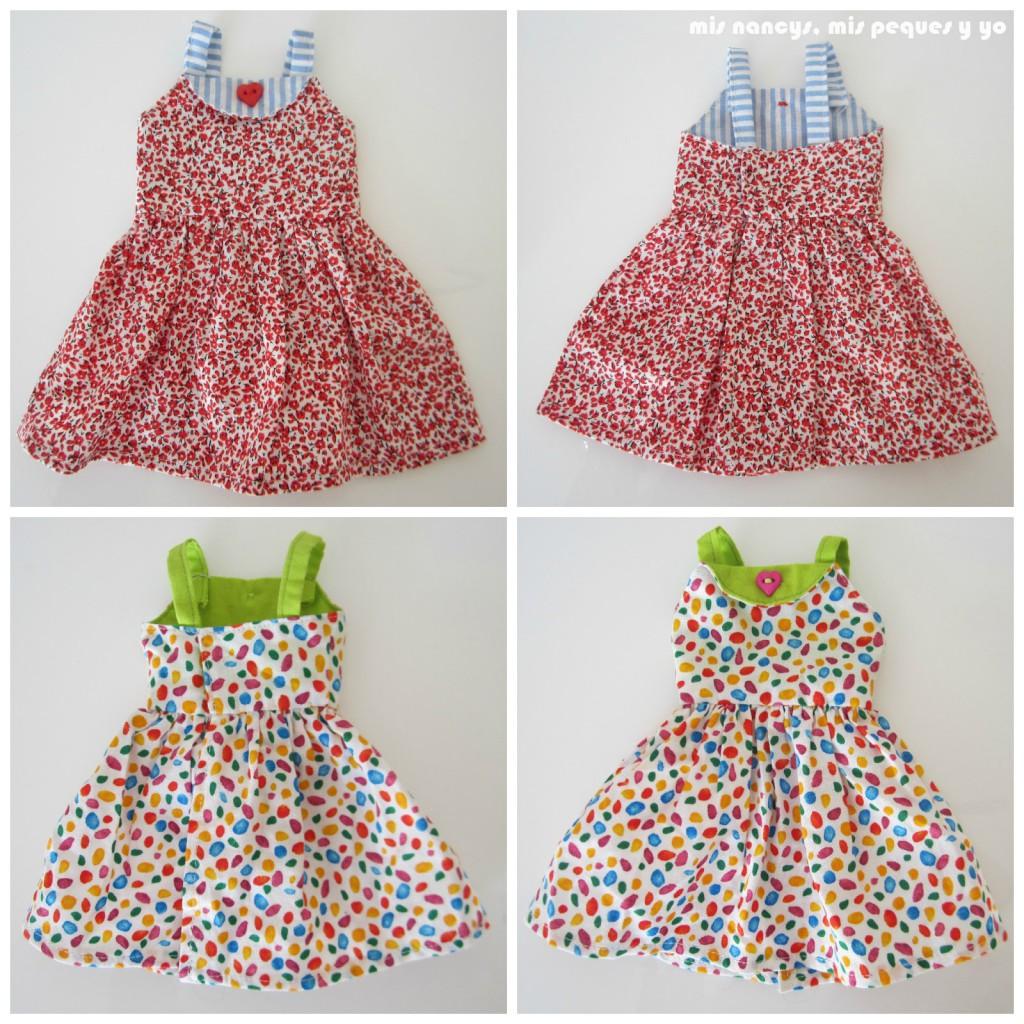 mis nancys, mis peques y yo, vestidos primavera para nancy de anilegra, delante y detras