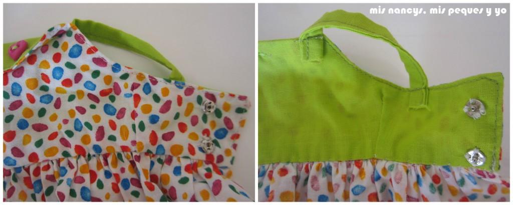 mis nancys, mis peques y yo, vestidos primavera para nancy de anilegra, detalle corchetes
