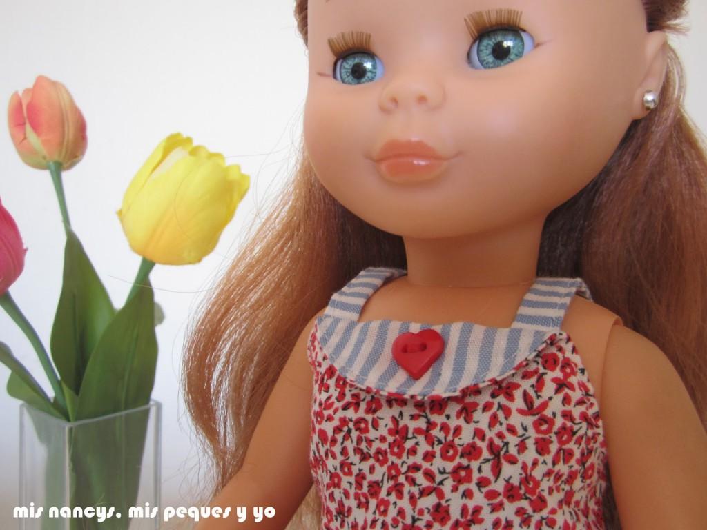 mis nancys, mis peques y yo, vestidos primavera para nancy de anilegra, vestido rojo