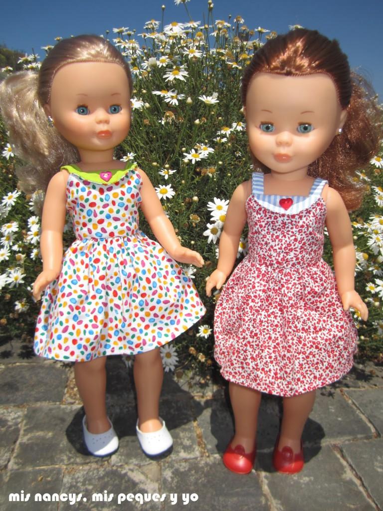 mis nancys, mis peques y yo, vestidos primavera para nancy de anilegra, de paseo entre margaritas