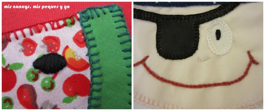 mis nancys, mis peques y yo, aprende a coser pequeños bordados, ejemplos