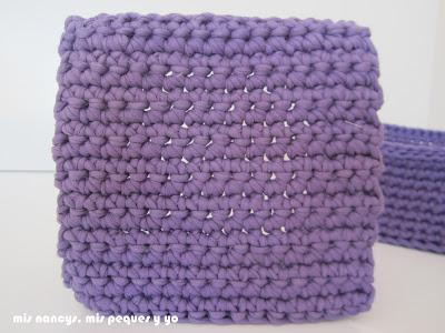 mis nancys, mis peques y yo, tutorial DIY cestas cuadradas de trapillo, detalle base