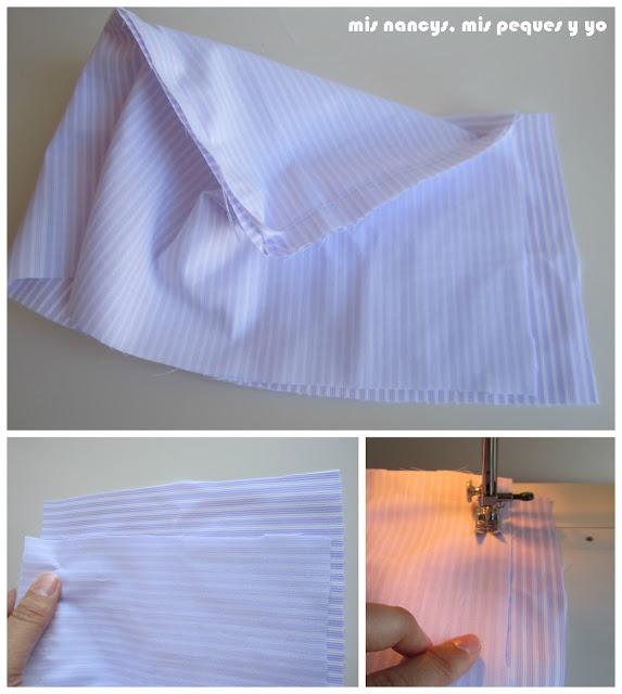 mis nancys, mis peques y yo, tutorial DIY funda cestas, coser parte vertical funda