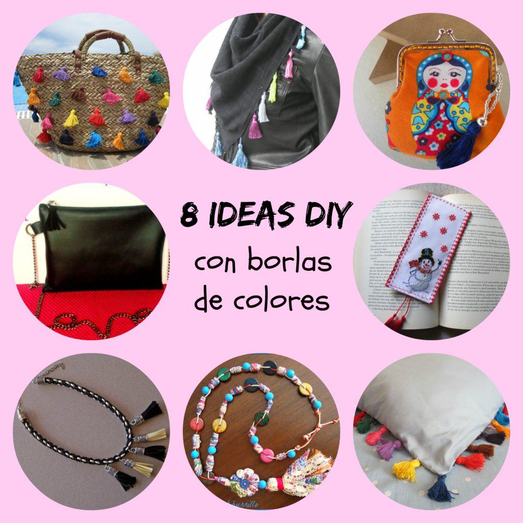 mis nancys, mis peques y yo, 8 ideas DIY con borlas de colores