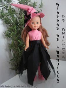 mis nancys, mis peques y yo, disfraz de bruja para nancy de anilegra
