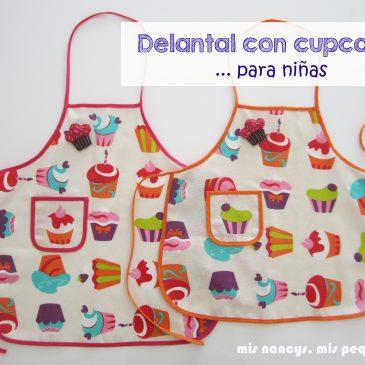 Delantal de cupcakes para niñas