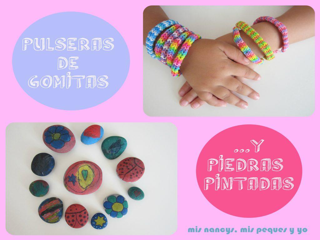 mis nancys, mis peques y yo, pulseras de gomitas y piedras pintadas, tres formas de envolver tus regalos