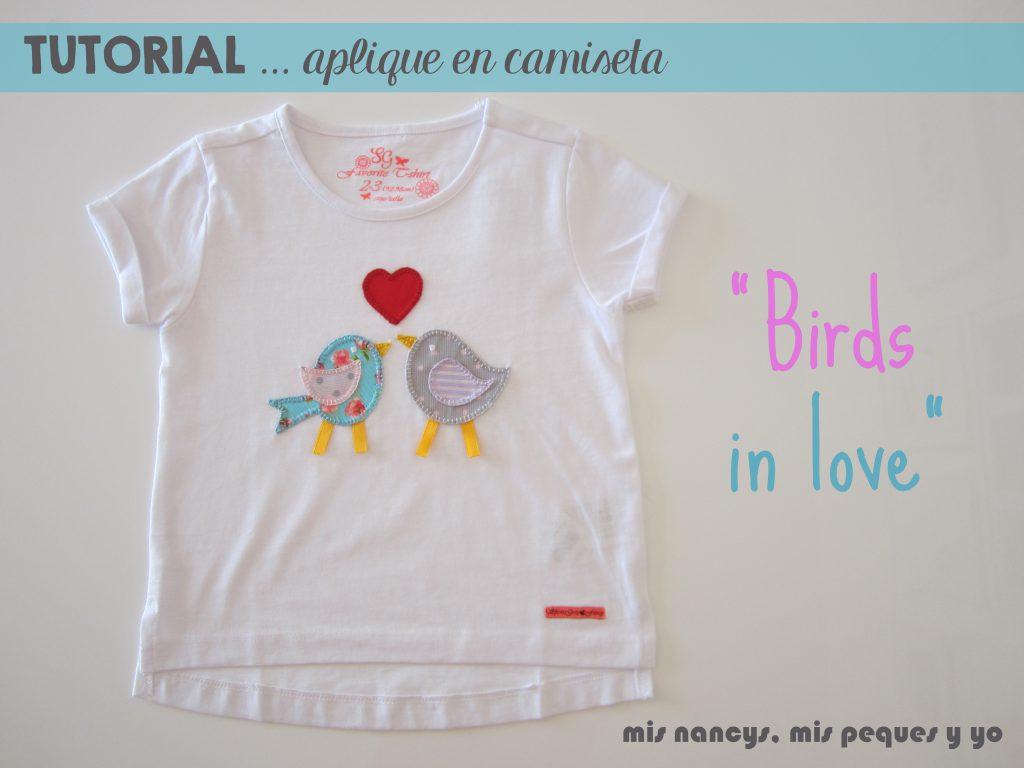 mis nancys, mis peques y yo, tutorial aplique en camiseta birds in love (patrón gratis)