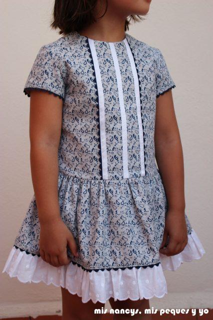 mis nancys, mis peques y yo, vestido talle bajo para niñas, vestido talla 5