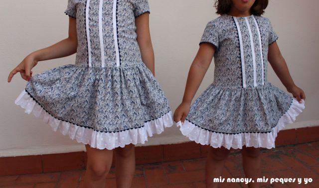 """mis nancys, mis peques y yo, vestido talle bajo para niñas de """"patrones mujer"""""""