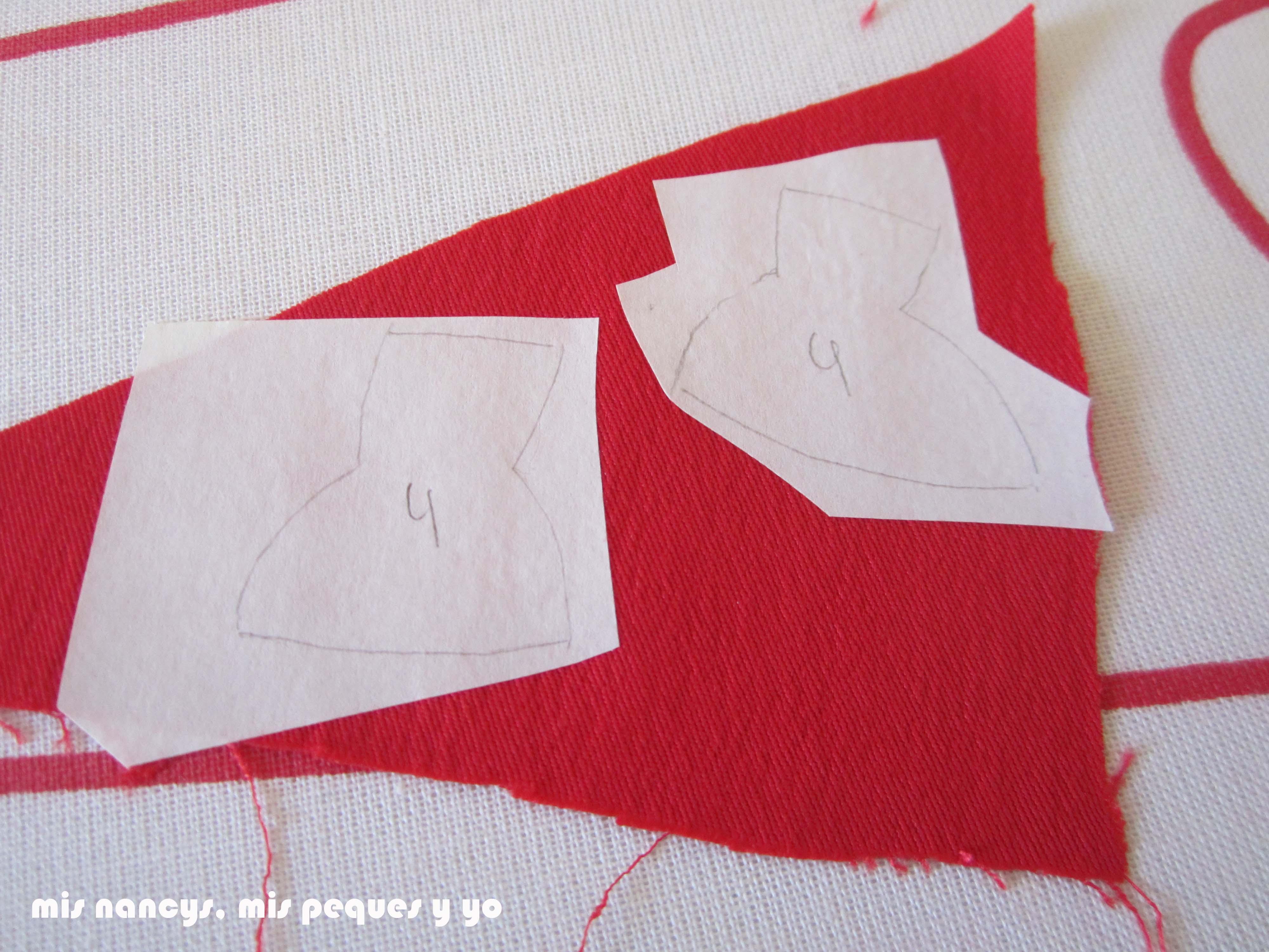mis nancys, mis peques y yo, tutorial aplique en camiseta muñequita, recortamos la flixelina