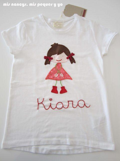 mis nancys, mis peques y yo, tutorial aplique en camiseta muñequita, camiseta terminada