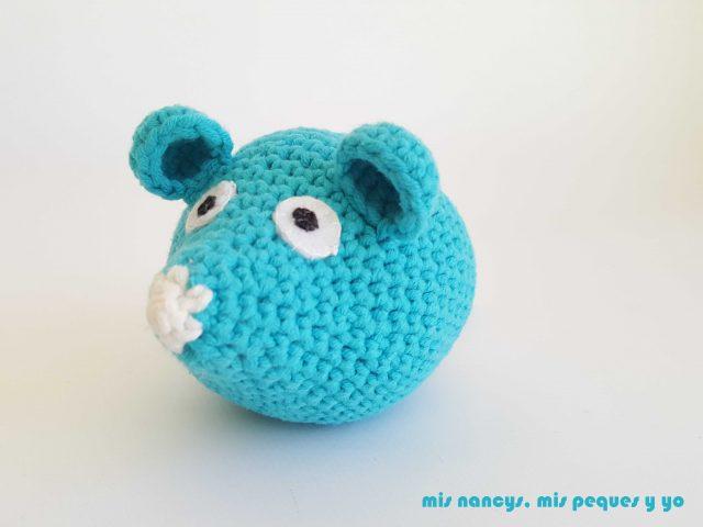 mis nancys, mis peques y yo, ratón amigurumi azul