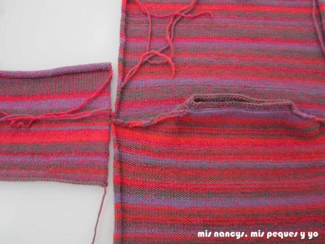 mis nancys, mis peques y yo, Tutorial DIY como coser un jersey de lana, colocar manga