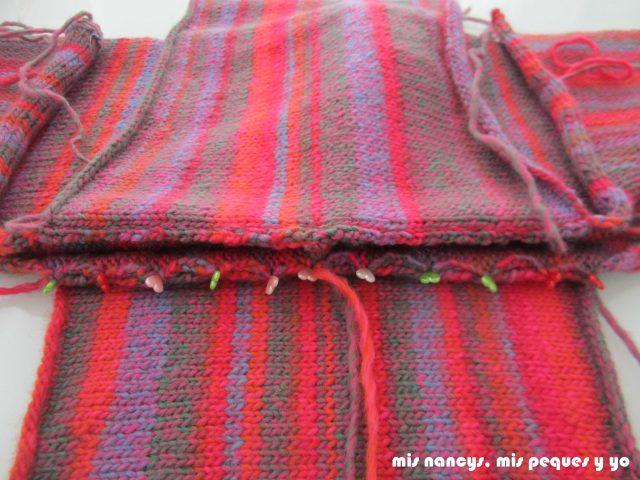 mis nancys, mis peques y yo, Tutorial DIY como coser un jersey de lana, colocar y coser la otra manga