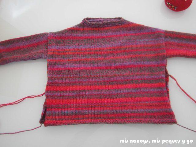 mis nancys, mis peques y yo, Tutorial DIY como coser un jersey de lana, coser los laterales
