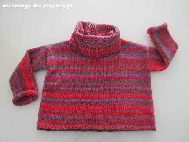 mis nancys, mis peques y yo, Tutorial DIY como coser un jersey de lana, jersey terminado con bufanda