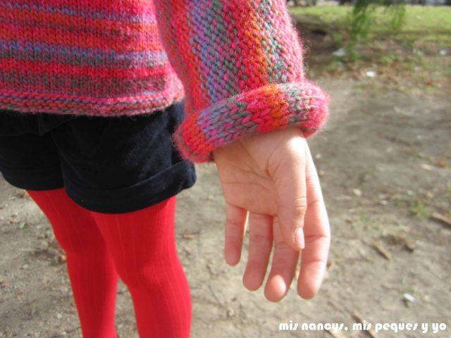 mis nancys, mis peques y yo, Tutorial DIY como coser un jersey de lana, jersey de lana Katia detalle puño