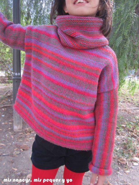 mis nancys, mis peques y yo, Tutorial DIY como coser un jersey de lana, jersey terminado Katia
