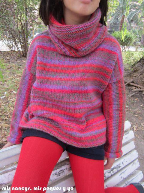 mis nancys, mis peques y yo, Tutorial DIY como coser un jersey de lana, jersey de lana terminado Katia