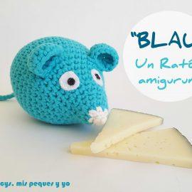 """""""BLAU"""" Un ratón amigurumi"""