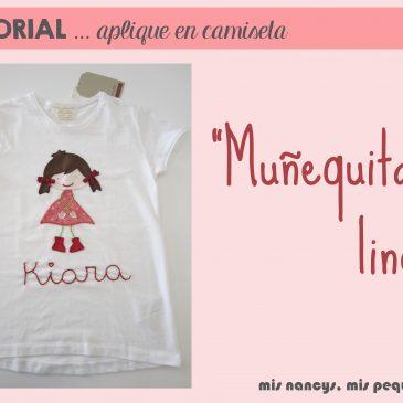 """Tutorial aplique en camiseta… """"Muñequita linda"""""""