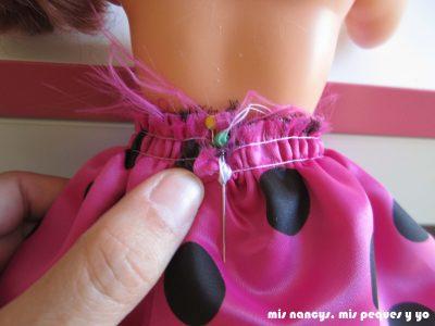 mis nancys, mis peques y yo, Tutorial falda fruncida con tul para Nancy y niñas, probar la falda