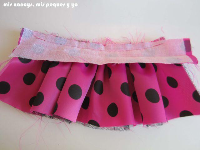 mis nancys, mis peques y yo, Tutorial falda fruncida con tul para Nancy y niñas, cinturilla cosida