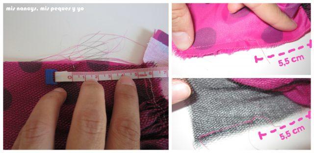mis nancys, mis peques y yo, Tutorial falda fruncida con tul para Nancy y niñas, coser lateral de la falda