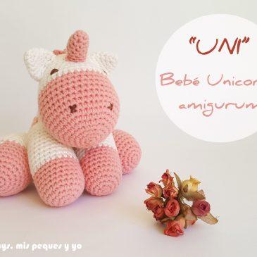 """UNI"" Bebe unicornio amigurumi"