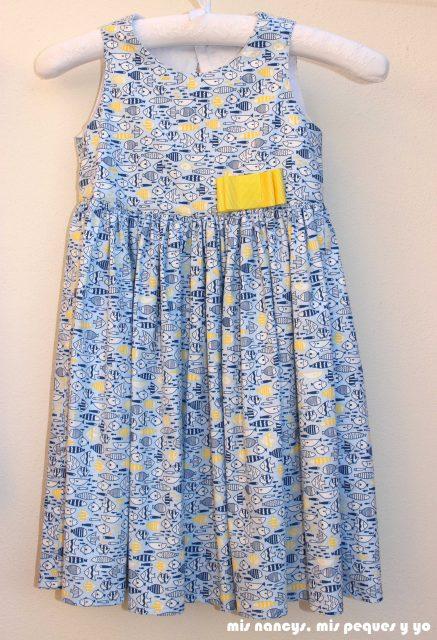 mis nancys, mis peques y yo, vestido everyday dress de Cosotela, vestido azul pececitos