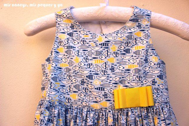 mis nancys, mis peques y yo, vestido everyday dress de Cosotela, detalle delantero del cuerpo del vestido