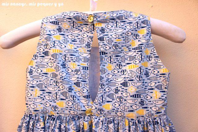mis nancys, mis peques y yo, vestido everyday dress de Cosotela, detalle espalda del cuerpo del vestido