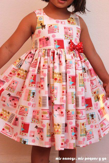 mis nancys, mis peques y yo, vestido everyday dress de Cosotela, vestido rosa con vuelo
