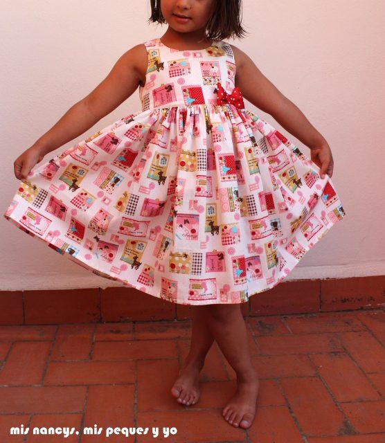 mis nancys, mis peques y yo, vestido everyday dress de Cosotela, como queda vestido rosa con mucho vuelo