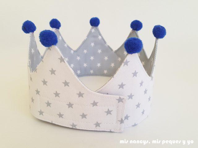 mis nancys, mis peques y yo, corona de tela para niños y marco personalizado, parte trasera con belcro